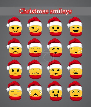 Set of celebratory Christmas smileys for your forum
