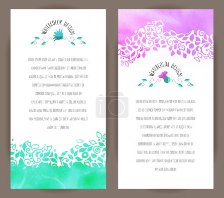 Set of two vertical banner