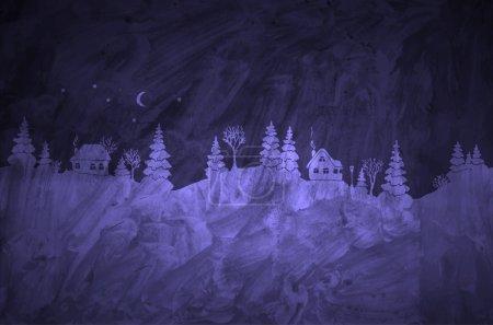 textured grunge white silhouettes