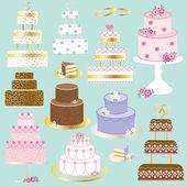 Wedding cakes set