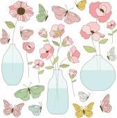 Flowers in Vases Clip Art