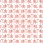 Růžové slony vzor