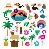 Tropical symbols  Clip art