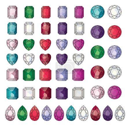 Gemstone Clip Art vector...