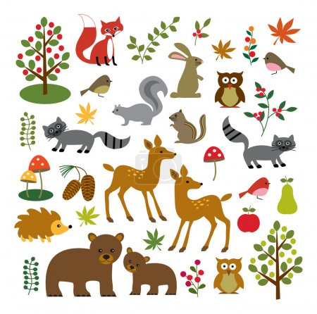 Illustration for Woodland clip art - vector - Royalty Free Image