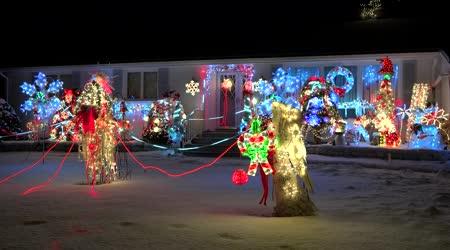 Osvětlené domácí Vánoční dekorace