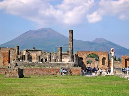The ruined city of Pompeii in Italy