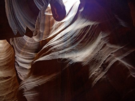 Sandstone interior of Upper Antelope Canyon, Navajo Nation Reservation, Arizona,