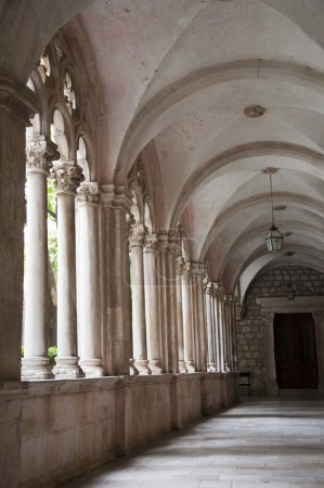 Cathedral Cloisters in the Walled City of Dubrovnic in Croatia Europe
