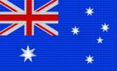 Australian flag embroidery design pattern