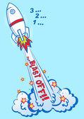 3 2 1 Blast off rocket