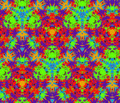 Seamless pattern composed of bright color abstract elements