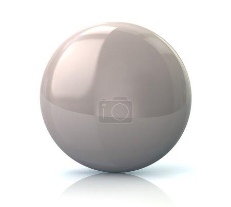 White glossy round button