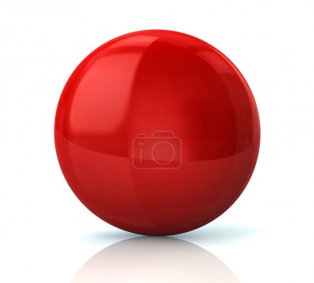Red round glossy button