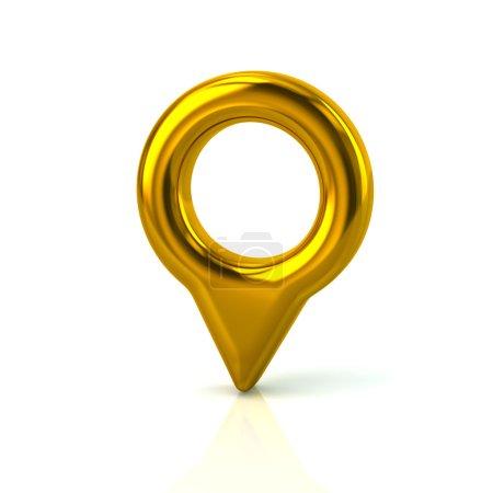 golden map pointer pin