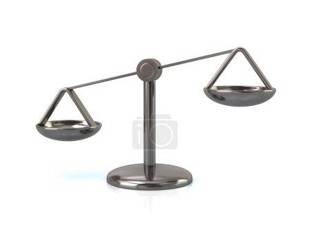 Photo pour Illustration 3D de justice argentée échelles icône isolé sur fond blanc - image libre de droit