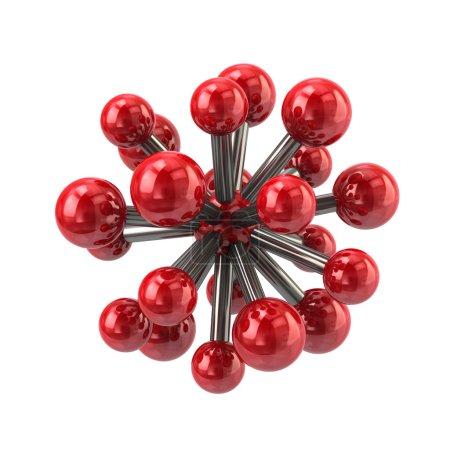 red molecule icon