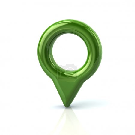 green map pointer pin