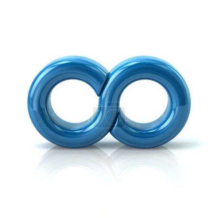 blue infinity symbol icon