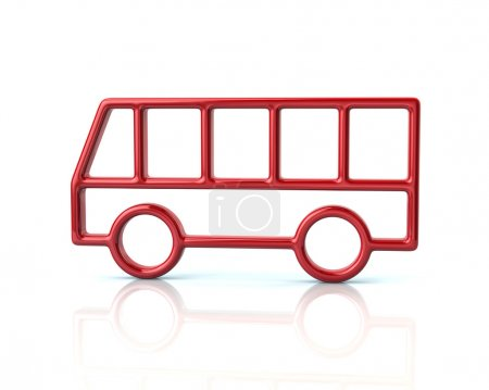 red bus car icon