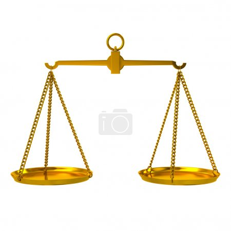 golden justice scales icon