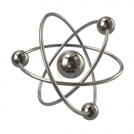 silver atom molecule icon