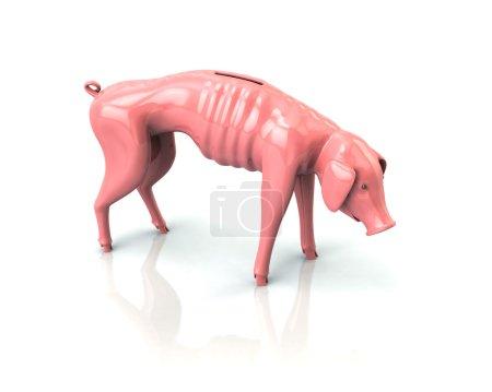 skinny piggy bank icon