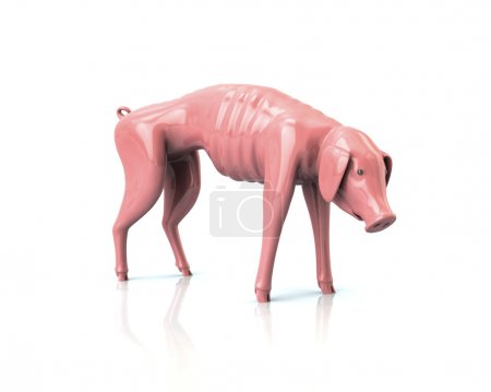 poor piggy bank icon