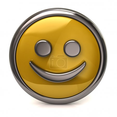 Happy yellow button