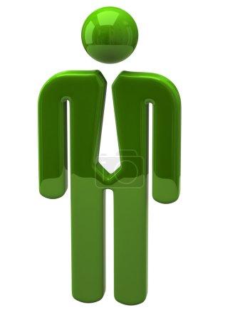 Businessman icon on white