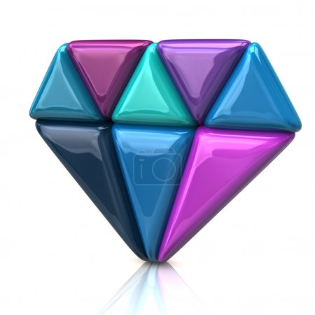 Abstract diamond icon