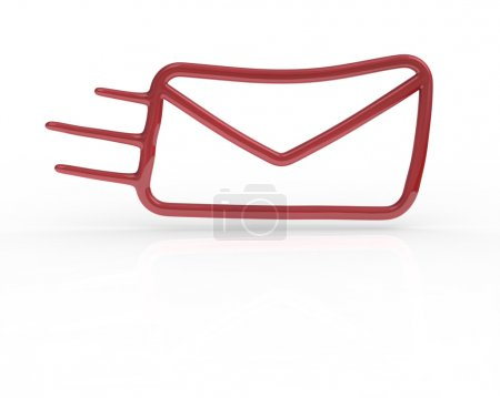 Red fast mail icon