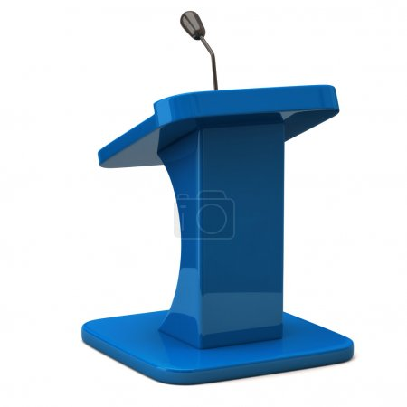 Photo for Tribune with microphone for speaker 3d illustration - Royalty Free Image