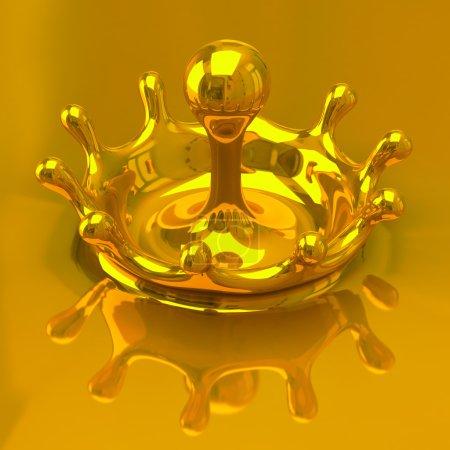 Photo for Splash of some liquid 3d illustration - Royalty Free Image