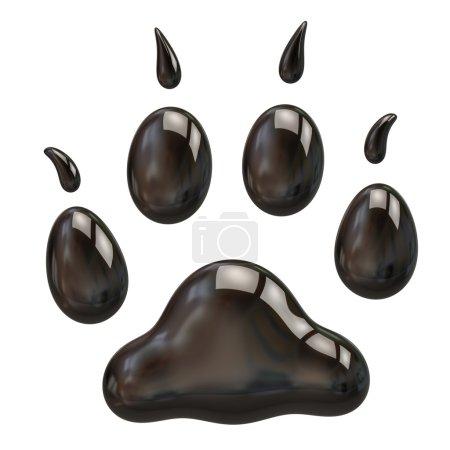 Black paw on white