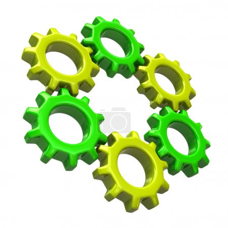 Colorful ring of gears
