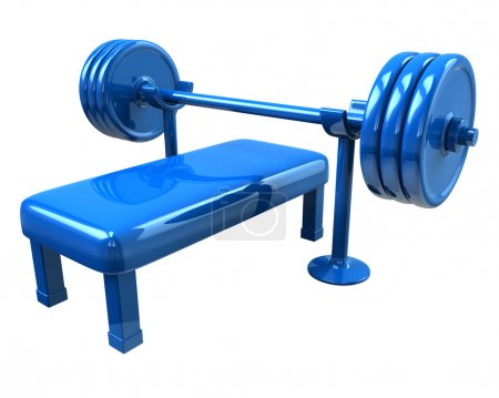 Photo for Fitness equipment   icon 3d illustration - Royalty Free Image