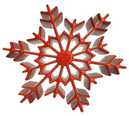 Snowflake icon on white