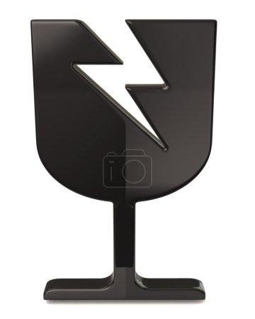 Black fragile icon