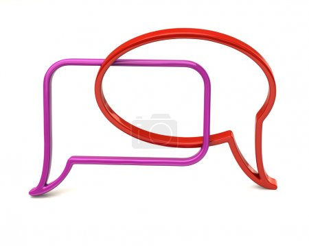 Photo for Chat icon illustration on white - Royalty Free Image