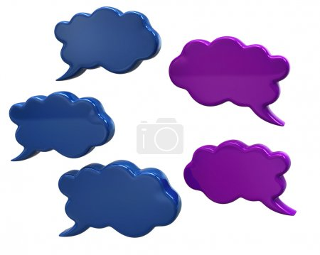 Communication speech bubbles