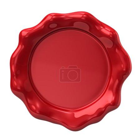 Photo pour Sceau de cire rouge sur fond blanc - image libre de droit
