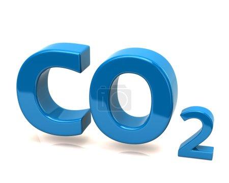 Blue carbon dioxide icon