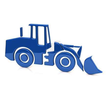 blue bulldozer icon