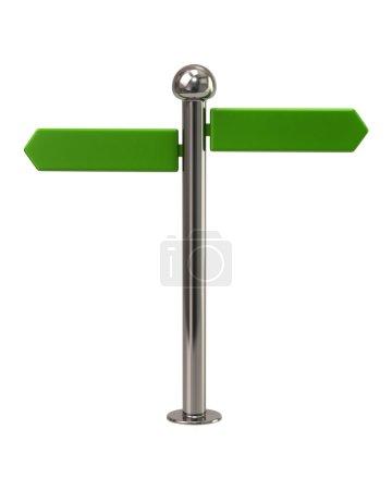 green signpost sign