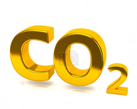 Golden carbon dioxide icon
