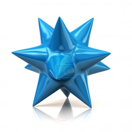 Abstract blue star sign