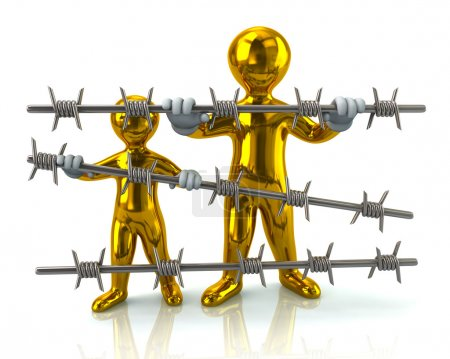 Golden refugees and barbed wire