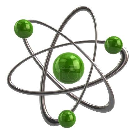 Green atom icon