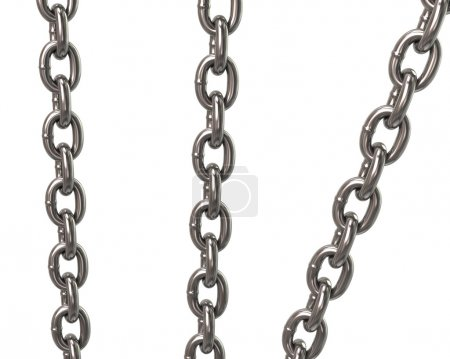 metal silver chains